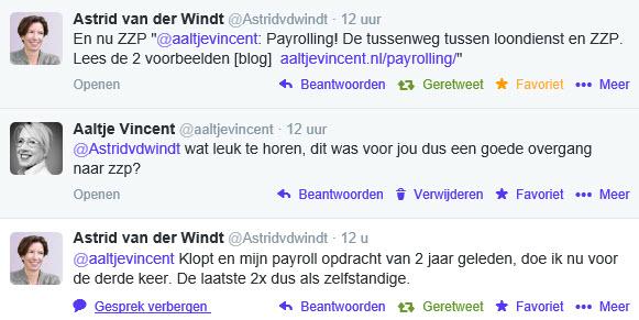 tweet astrid payroll zzp