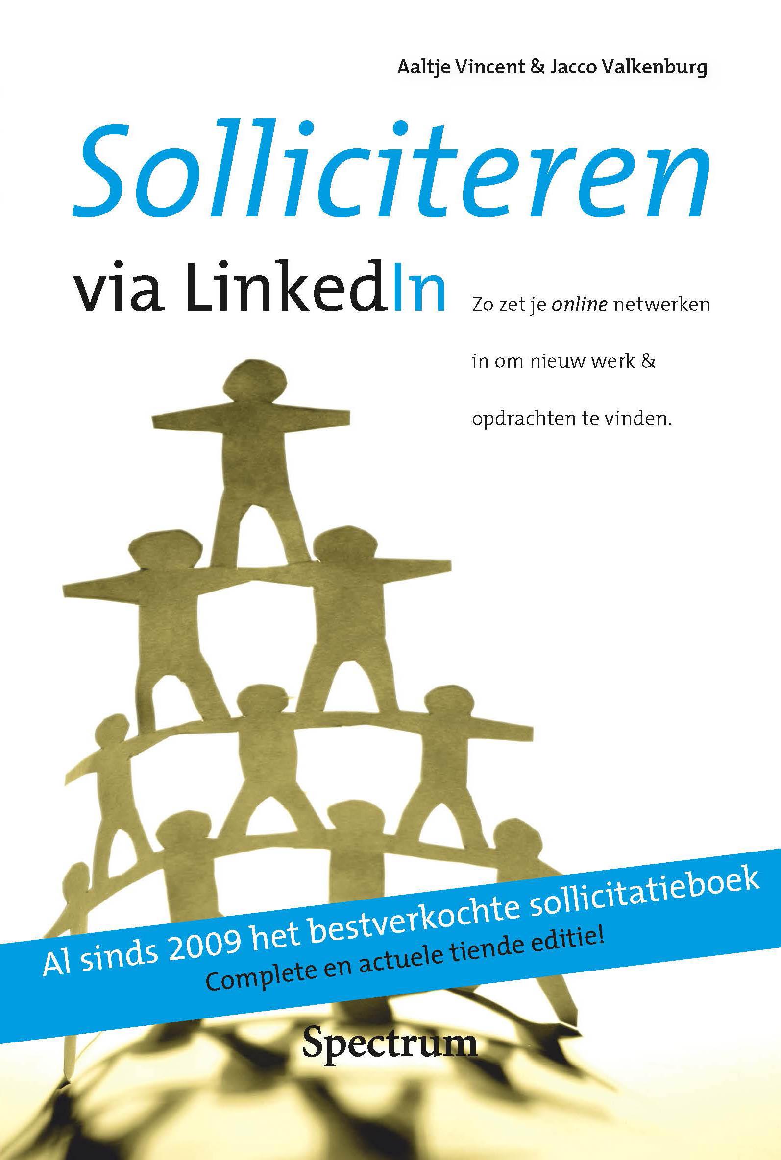 Solliciteren via LinkedIn cover 10e druk