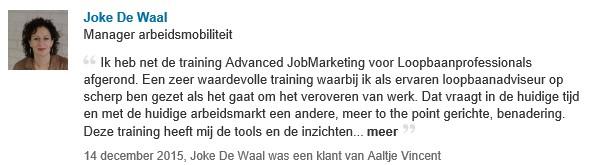 aanbeveling Joke De Waal